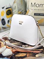Белая маленькая женская сумочка через плечо сумка кросс-боди экокожа