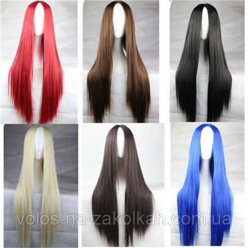 Парики без челки длинный ровные парик черный красный каштан