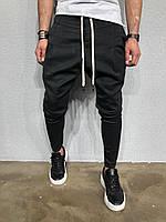 Стильные мужские джинсы черные зауженные S
