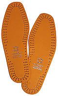 """Стельки для обуви кожаные """"MDDRI"""" светло-коричневые, фото 1"""