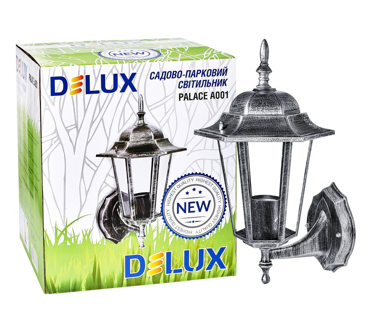 Светильник садово-парковый PALACE A001 60W E27 черный-серебро