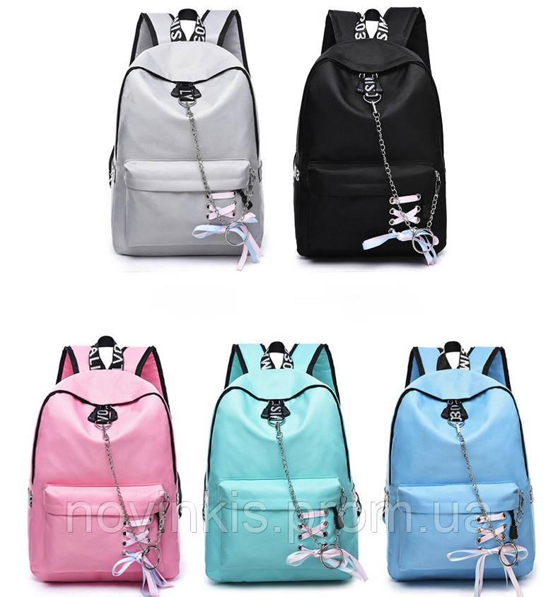f7139e21f2d2 Стильный большой молодежный рюкзак со шнуровкой BE COOL