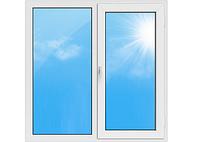 """Вікна типу """"Стандарт"""" із профілю WDS 500, з двокамерним енергозберігаючим склопакетом,розміри (1300х1400)"""