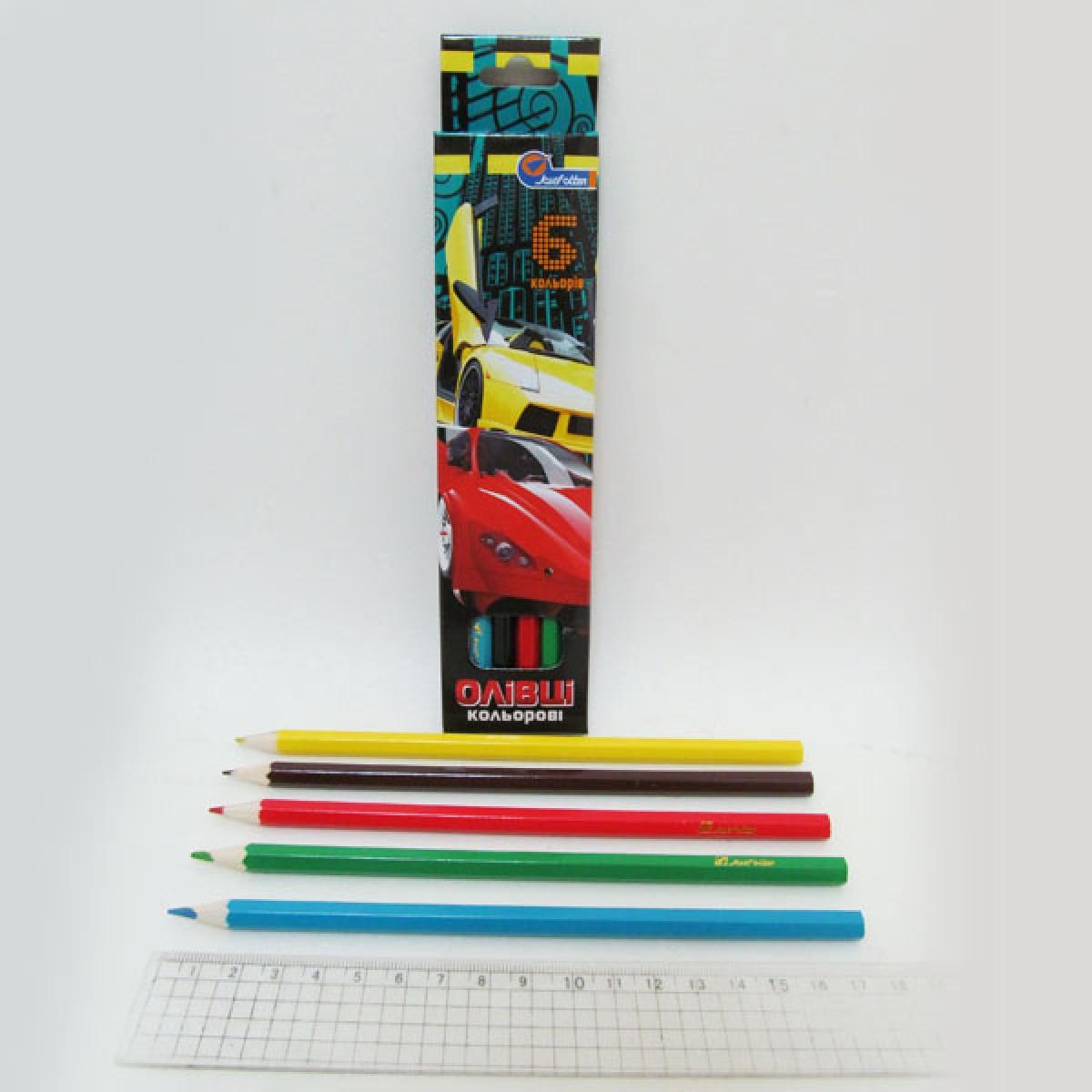 "Набор карандашей 6 цветов ""Sport Car"""