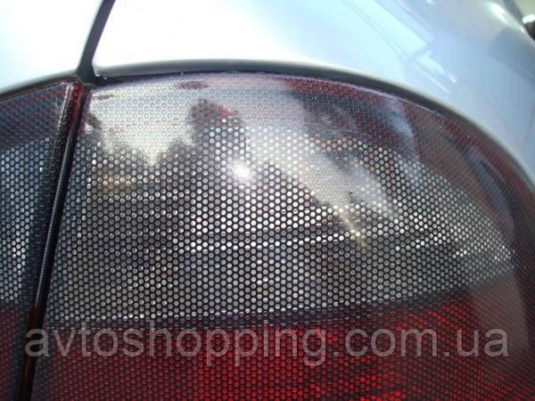 Пленка для тонирования фар Черная Перфорированная , в сетку Guard Турция 50 см на 1 м
