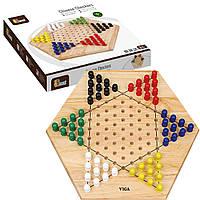 Стратегическая настольная игра Viga Toys Китайские шашки (56143)