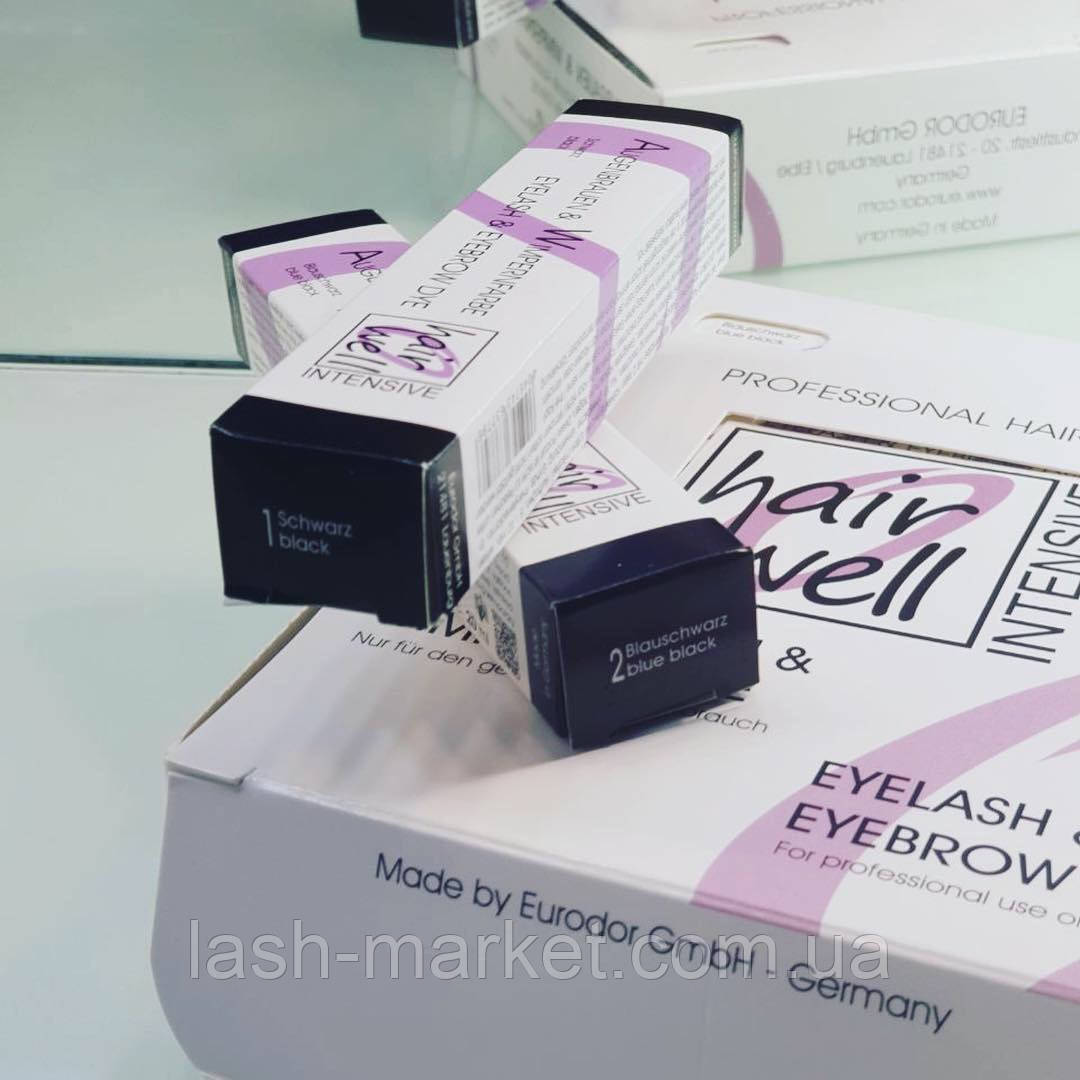 Краска HairWell (Черный цвет) для ламинирования ресниц и бровей
