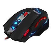 Мышь Zelotes T-90 проводная USB оптическая игровая 9200DPI 8 кнопок 8 грузиков кабель 1,8м