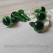 Глазки для игрушек 10 мм зеленый металик