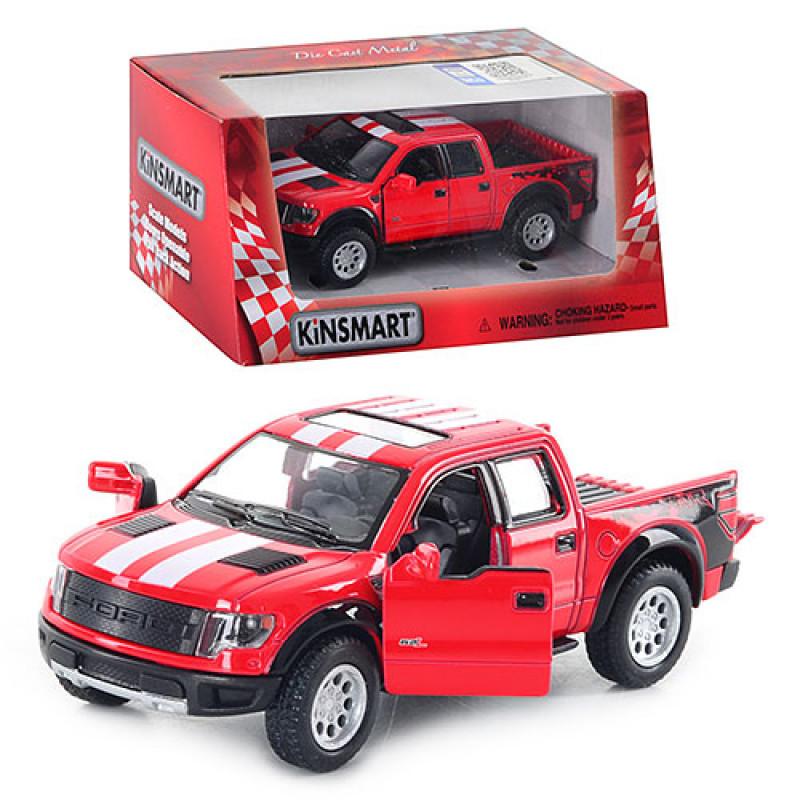 Машинка Kinsmart Ford F-150 SVT Raptor інерційна, металева, коробці, 16-8-7,5 см