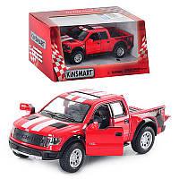 Машинка Kinsmart Ford F-150 SVT Raptor інерційна, металева, коробці, 16-8-7,5 см, фото 1
