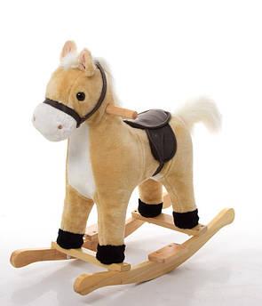 Лошадка-качалка Bambi плюшевая MP 0081 (Бежевый)