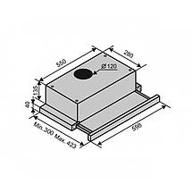 Вытяжка VENTOLUX GARDA 60 WHG (750) SMD LED, фото 3