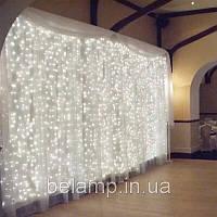Свадебная гирлянда штора  «Белоснежная». 3 на 3 метра. 300 LED, фото 1