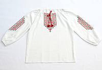 Женская белая льняная рубашка с красной вышивкой Рождественская звезда MOTYV  by Piccolo L