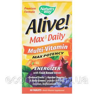 Мультивитамины, Nature's Way (90 таблеток / 3 в день)