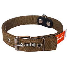 Ошейник двойной 25 мм х 540 мм брезентовый / усиленный с кольцом / двухслойный / ошийник для собак ТМ Canicula
