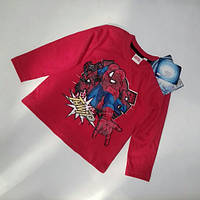 Реглан красный SpiderMan Marvel р.92/98