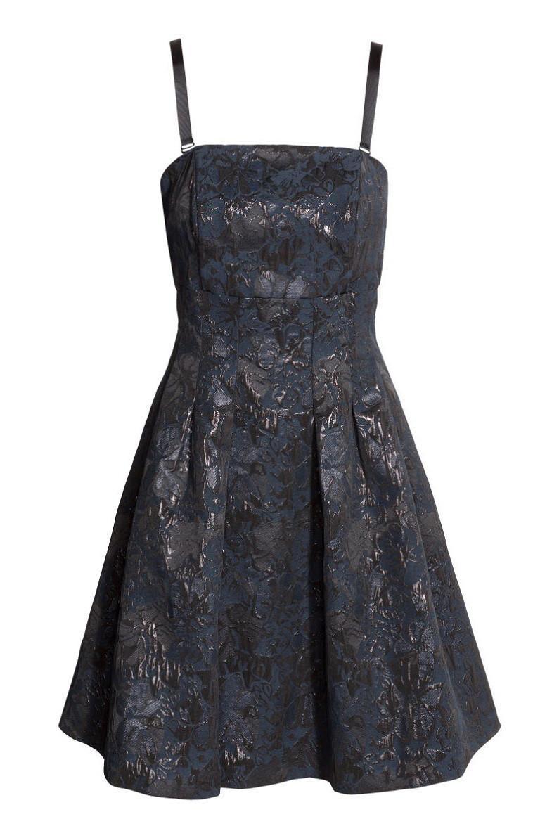 Платье H&M Jacquard-weave Bandeau Dress US 6