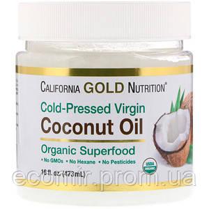 Кокосовое масло нерафиниров-е, CGN, 473 мл