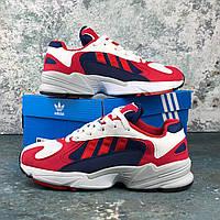 Adidas Yung-1 Chalk White/Core Red-Collegiate Navy | кроссовки мужские и женские; красные