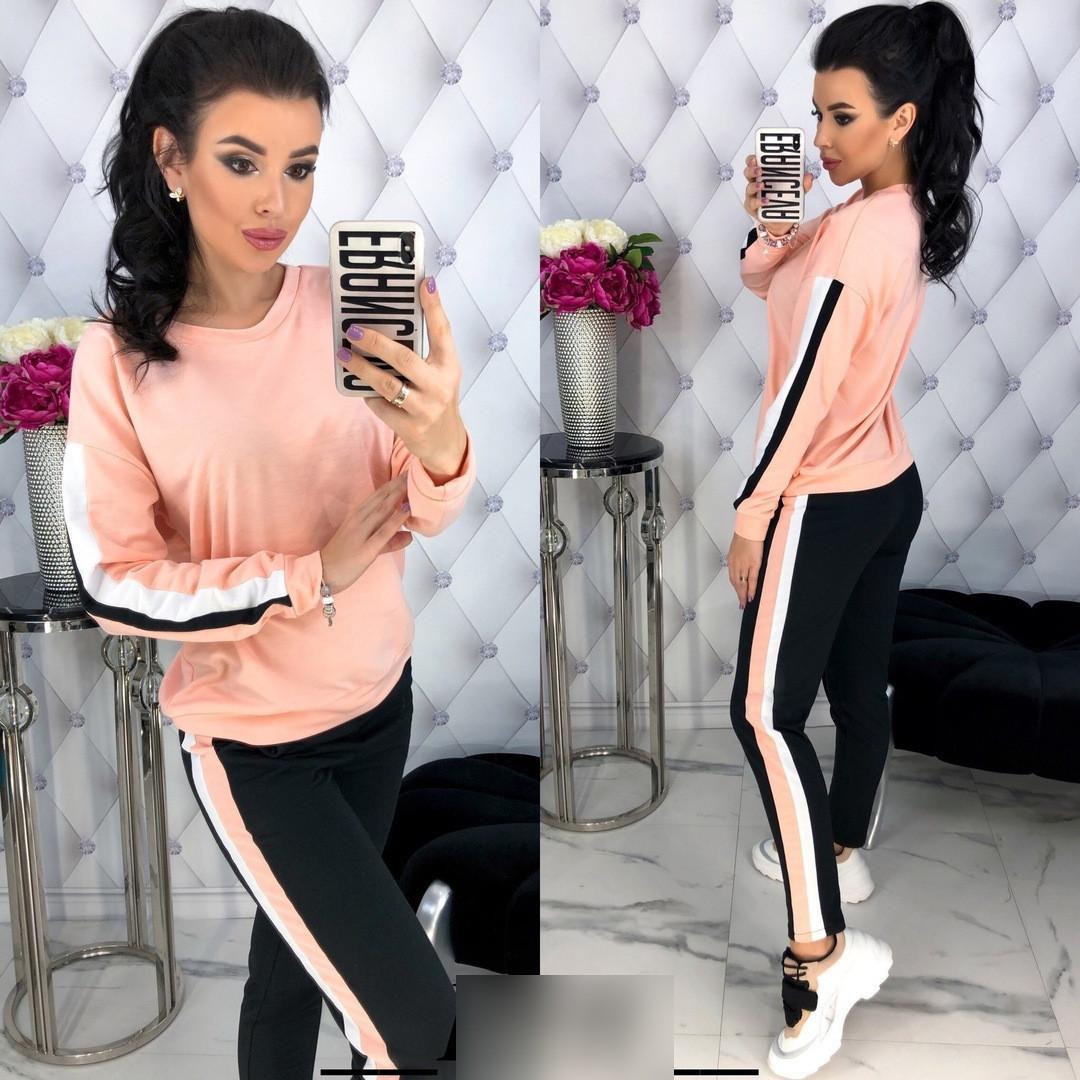 Спортивный женский костюм 389 (розовый)