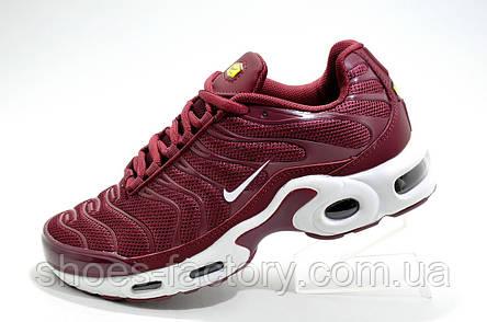 Женские кроссовки в стиле Nike Air Max TN Plus, Бордовые, фото 2