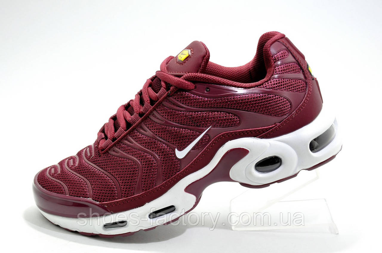 Женские кроссовки в стиле Nike Air Max TN Plus, Бордовые