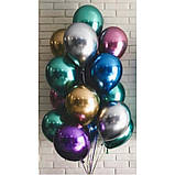 Гелиевые шары Хром - зеленый chrome green.  Гелиевые шары Киев. Гелиевые шары с доставкой по Киеву., фото 2