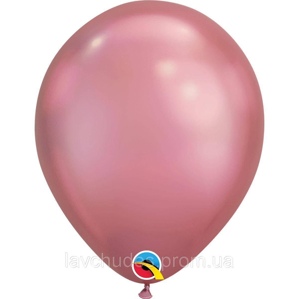 Гелиевые шары Хром - розовый chrome mauve .  Гелиевые шары Киев. Гелиевые шары с доставкой по Киеву.