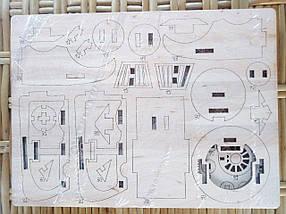 Деревянный конструктор 3D пазл Поезд, фото 3