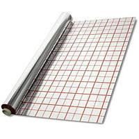 Теплоотражающая подложка ITAL-therm 50 (мк, µ) 50 М с разметкой фольгированная для теплого пола