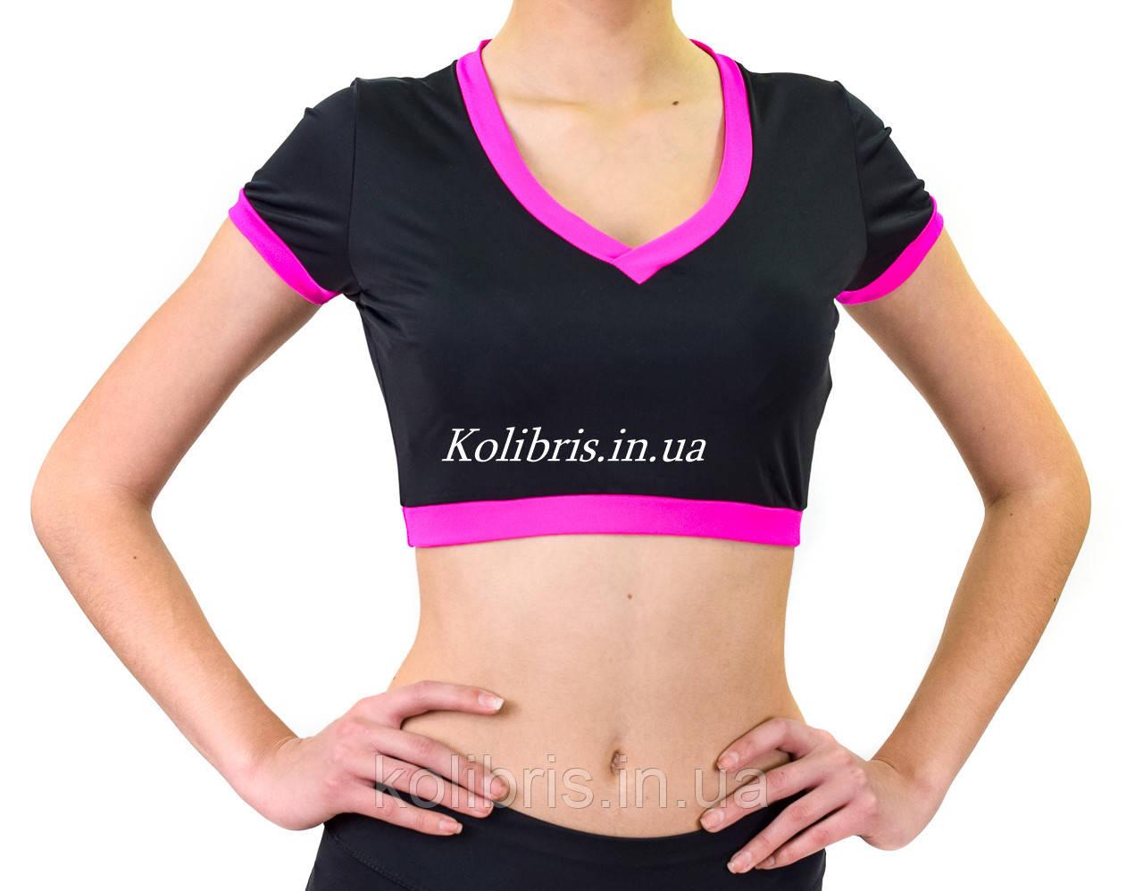 Рашгард футболка черная женская с коротким рукавом