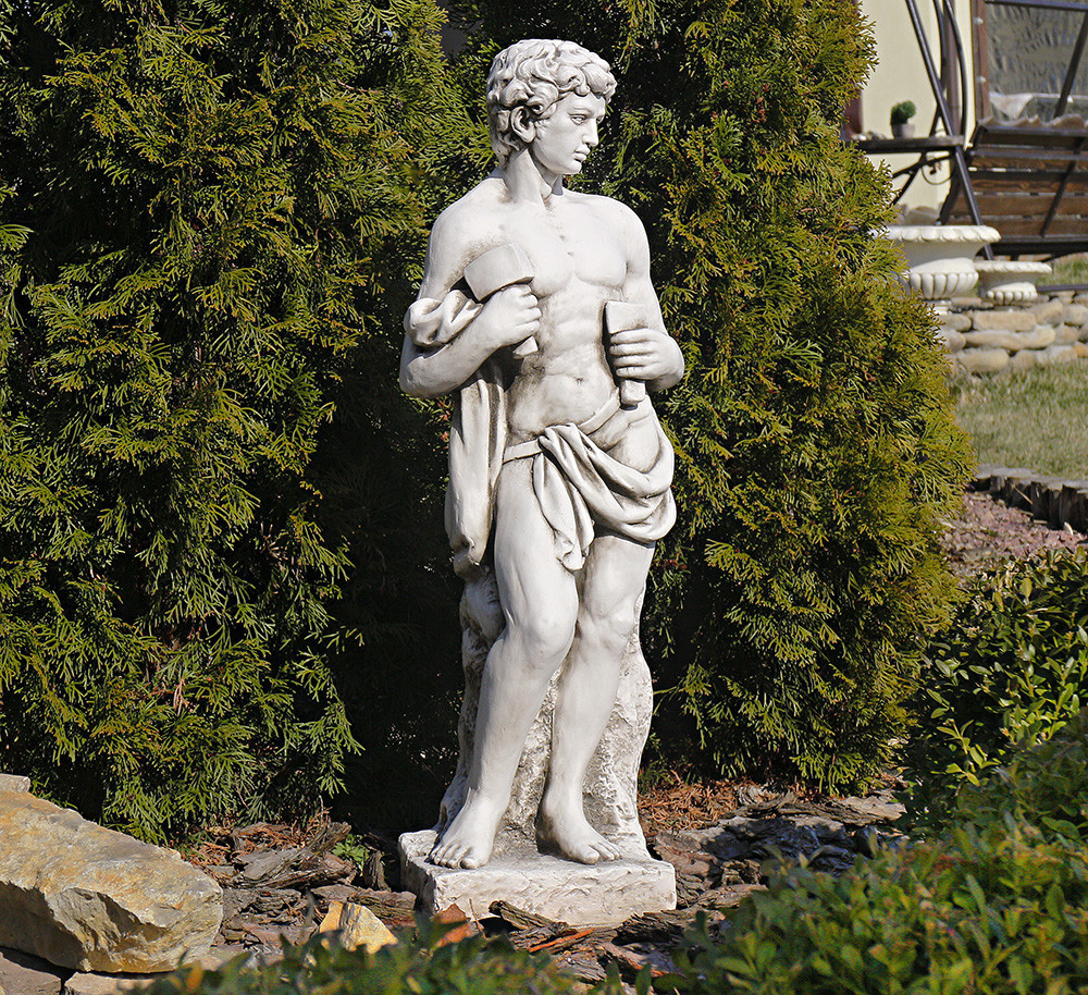 Садовая  скульптура Бог строительства 30X22X84cm