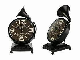 Настільні годинники Грамофон (Два кольори) Темно-Коричневий