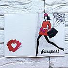 Обложка на паспорт Девушка с воздушными шариками, фото 3