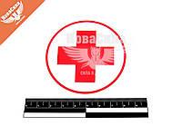 Наклейка круглая крест (красный на белом фоне) диам.7   6-54