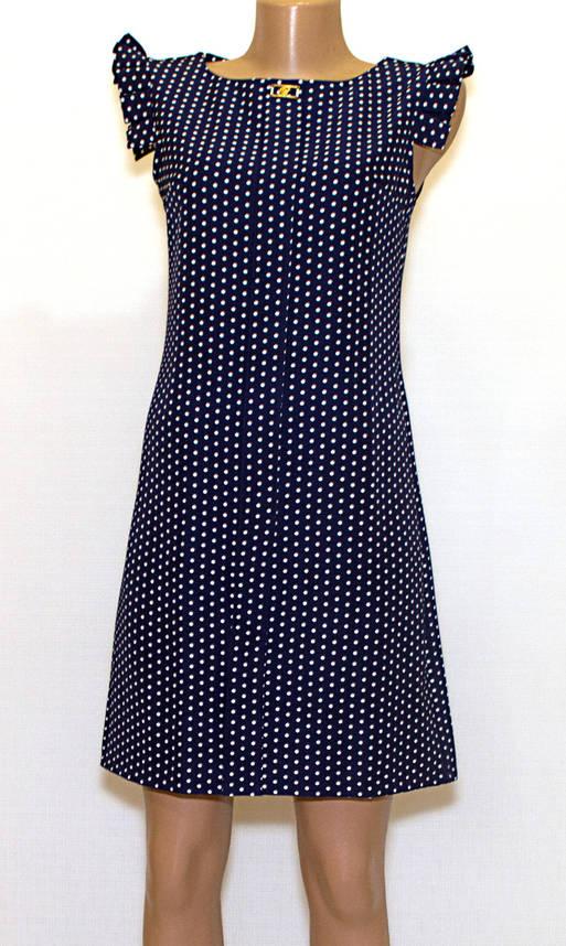 Летнее платье приталенное в горошек (46), фото 2