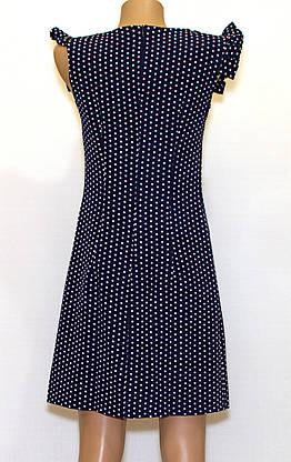 Летнее платье приталенное в горошек (46), фото 3