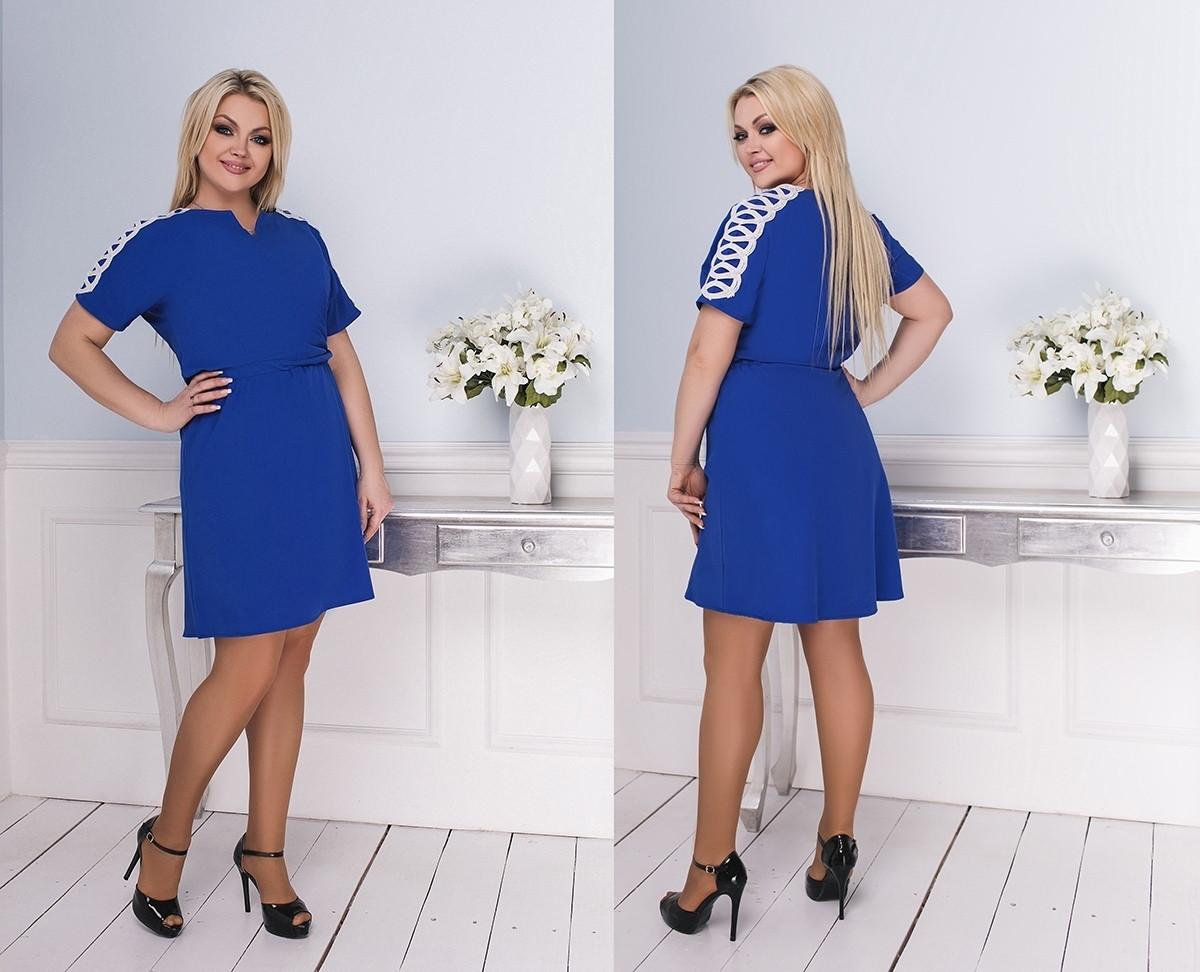 Женское короткое приталенное платье 50-52, 54-56, 58-60.