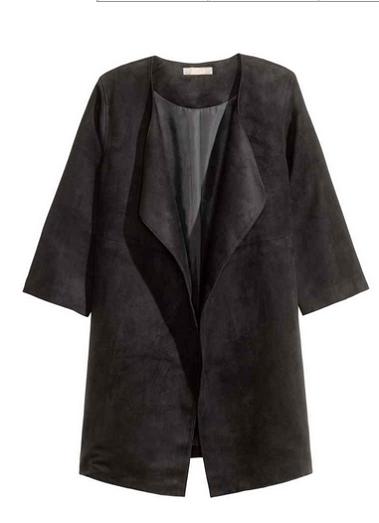 Пальто H&M Imitation Suede Coat EUR 38