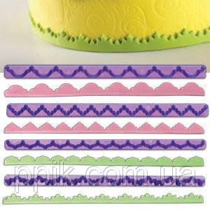 Вырубка - оттиск кондитерская для оборки из 4-х фиолетовая