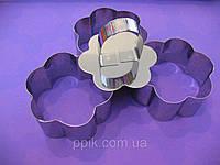 Набор форм для гарнира и десертов Цветок из 3 шт. с выталкивателем