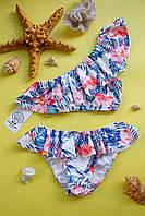 Женский раздельный купальник с фламинго