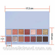 Палетка 14 тіней для повік KYLIE JENNER CHILL BABY Palette (6 матових+8 шиммерных), фото 2