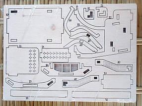 Деревянный конструктор 3D пазл Б`юїк, фото 3
