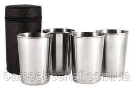 Набір дорожніх стаканів із нержавіючої сталі GA Династія 4 шт 10300