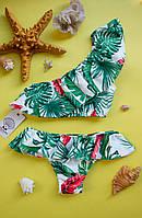 Женский раздельный купальник с пальмами