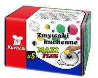 Губки maxi plus  для посуды 5 шт  KUCHCIK