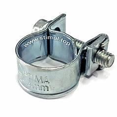 Хомут МИНИ 8-10 мм (100 штук) усиленный винтовой / OPTIMA / червячный хомут / ОПТИМА